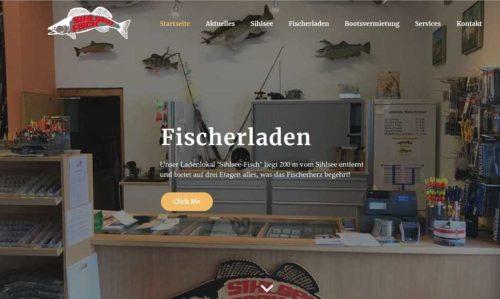 Website www.Sihlsee-Fisch.ch/Fischerladen