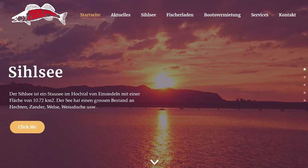Website www.Sihlsee-Fisch.ch/sihlsee