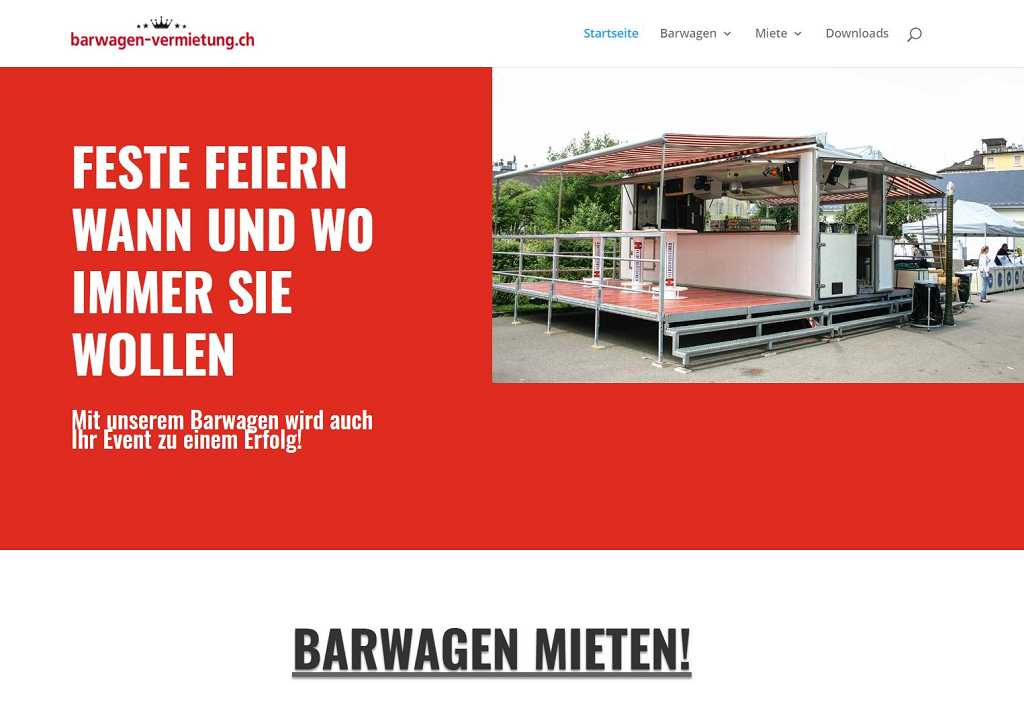 Website barwagen-vermietung.ch