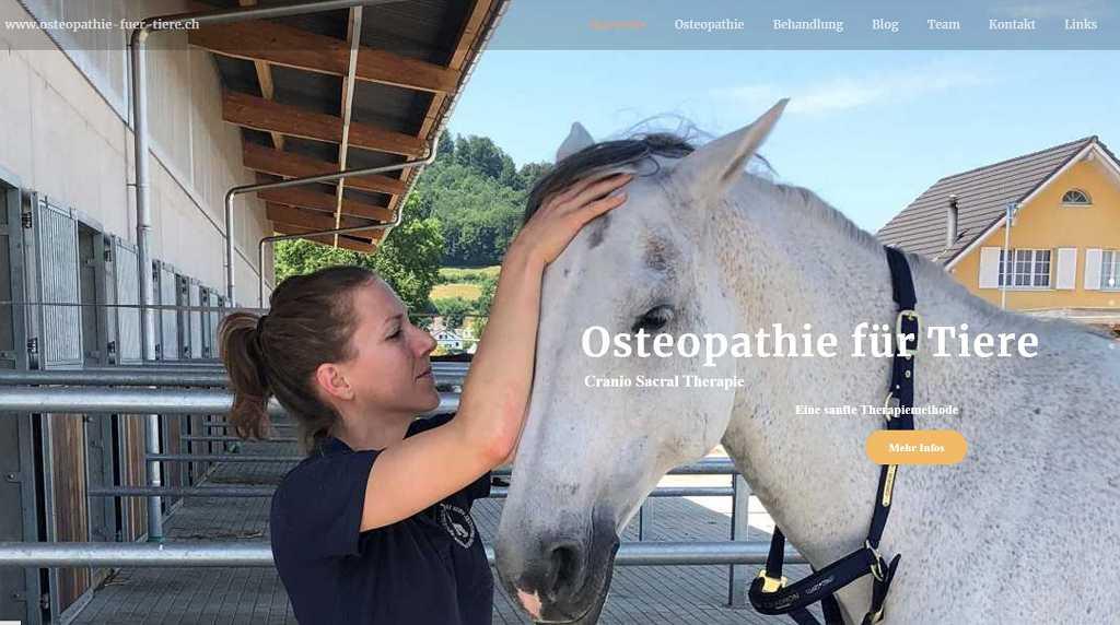 Website Osteopathie-fuer-Tiere.ch